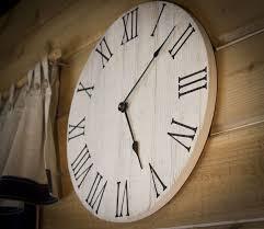 large wall clock farmhouse wall clock rustic wall clock wall clock large