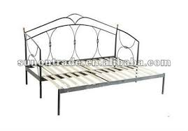 2012 latest double daybed metal bed with wood slats base buy