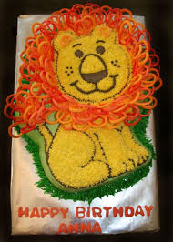 birthday yearbook friendly lion cake wilton 2008 yearbook cakecentral