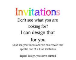 design your own invitations custom invitation etsy