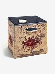Harry Potter Map Harry Potter Marauder U0027s Map Folding Storage Bin Boxlunch