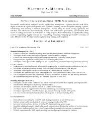 Planning Manager Resume Sample by Supply Chain Management Skills For Resume Best Free Resume