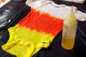 Make A Candy Corn Tie Dye Onesie