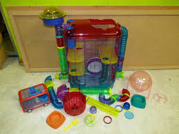 Hamster Cages Petsmart Used Crittertrail 3 Hamster Gerbil Cage Plus Accessories On