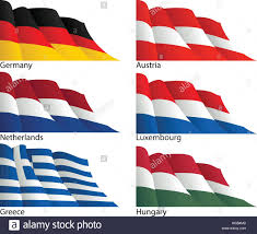 Austria Flag Germany Netherlands Greece Hungary Luxembourg And Austria