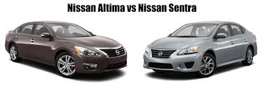 nissan altima nissan sentra vs nissan altima what are the differences jack