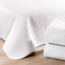 jeté de canapé blanc couvre lit perca blanc