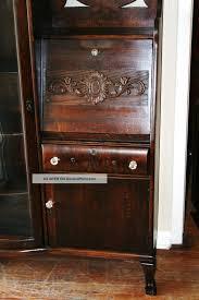 Queen Anne Secretary Desk by Vintage Drop Front Writing Desk Decorative Desk Decoration