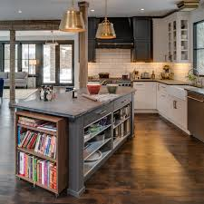 kitchen island shop kitchen island with bookcase transitional bay cabinetry for shop