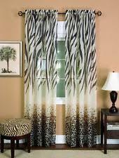 Leopard Curtains Animal Print Curtains Drapes U0026 Valances With Sheer Fabric Ebay
