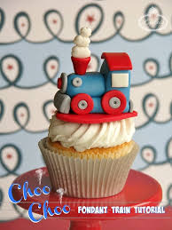 learn how to make train cupcake toppers