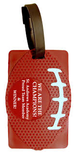 football party favors football party favors luggage tag