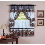 kitchen curtains kitchen curtains set of 2 walmart