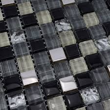 painted tiles crystal glass tile sheets square kitchen backsplash
