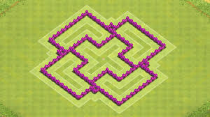coc map layout th6 clash of clans town hall 6 defense best coc th6 hybrid base layout