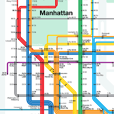 Map Of Manhattan New York City by Midtown Manhattan Subway Map My Blog