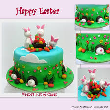 easter cake with easter bunnies veena azmanov