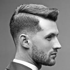 short natural tapered low hairstyles with a part side part haircut a classic gentleman s hairstyle men s haircuts