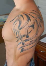 tribal shoulder tattoo art for men tattoomagz