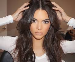 long black hair with part in the middle 9 middle part hairstyles every cool girl needs to know