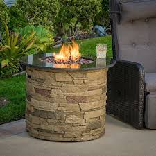 amazon gas fire pit table rogers outdoor round liquid propane fire pit with lava ro https
