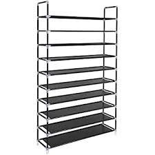 Shoe Rack by Songmics 10 Tiers Shoe Rack 50 Pairs Non Woven Fabric