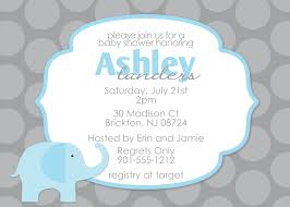 Baby Shower Invite Boy Baby Shower Invitations With Elephants Theruntime Com