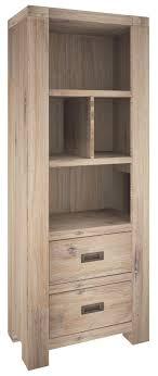 coffin bookshelf coffin bay 2 drawer bookshelf in acacia timber ash finish our