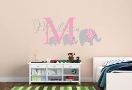 wandtattoo kinderzimmer name elefant name aufkleber elefanten kinderzimmer dekor