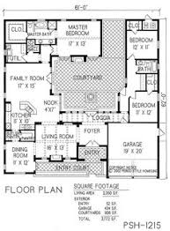 Big Houses Floor Plans Center Courtyard House Plans With 2831 Square Feet This Is One