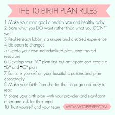 all about birth plans mommytobeprep com