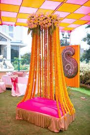 mehndi decoration wedding ideas inspiration bridal lehenga mehendi and bright pink