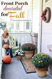 front porch decorated for fall love of family u0026 home