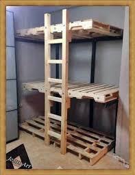 Pallet Bunk Beds Lits Superposés Construit Avec Palettes Small Apartments