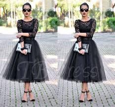 a line scoop 3 4 length sleeves lace tea length evening dress