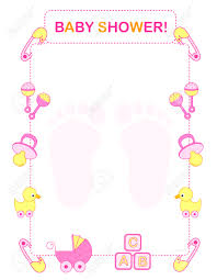 Borders For Invitation Cards Free Illustration Of A Baby Shower Invitation Card Border Frame