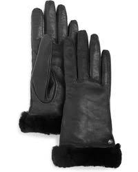 ugg sale saks ugg gloves leather gloves winter gloves mittens lyst