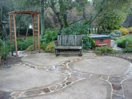 Average Price For Stamped Concrete Patio by Concrete Backyard Cost Home Outdoor Decoration