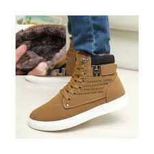 fashion winter warm men waterproof casual shoes with fur