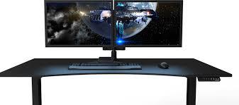 Best Computer Desks For Gaming Brilliant Gaming Desk Evodesk Within Computer Desk For Gaming