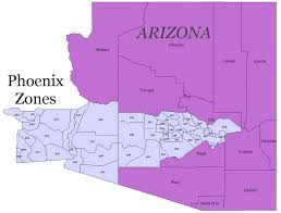 Phoenix Area Zip Code Map by Phoenix County Warning Area Public Zones