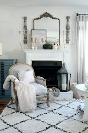 a simple modern romantic french inspired mantle