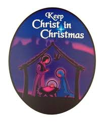 keep in nativity car magnet
