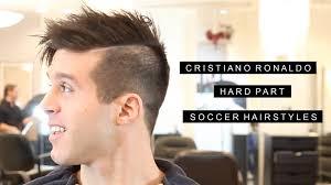 cristiano ronaldo inspired hard part soccer hairstyles