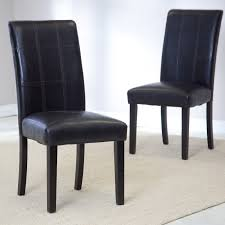 Leather Parson Dining Chairs Faux Leather Parsons Dining Room Chairs Alliancemvcom Ella