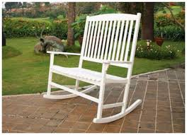 White Patio Rocking Chair by Rocking Chair Double White Seats 2 Outdoor Furniture Seat Wood