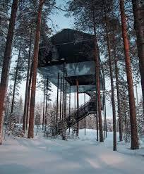 sleep under the northern lights isolated treehouse hotel lets you sleep under the northern lights