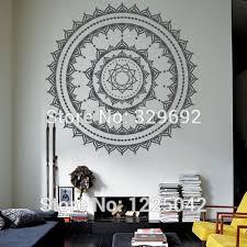 home decor free shipping free shipping cool wall art decal yoga mandala om indian buddha wall