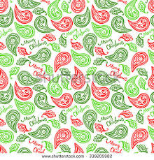 christmas pattern red green merry christmas christmas pattern paisley pattern stock vector