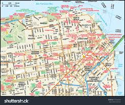 San Francisco Ca Map by San Francisco California Downtown Map Stock Vector 139204268